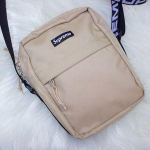 Supreme SS18 tan shoulder bag